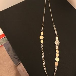 Long necklace! Great condition! Silver and gold